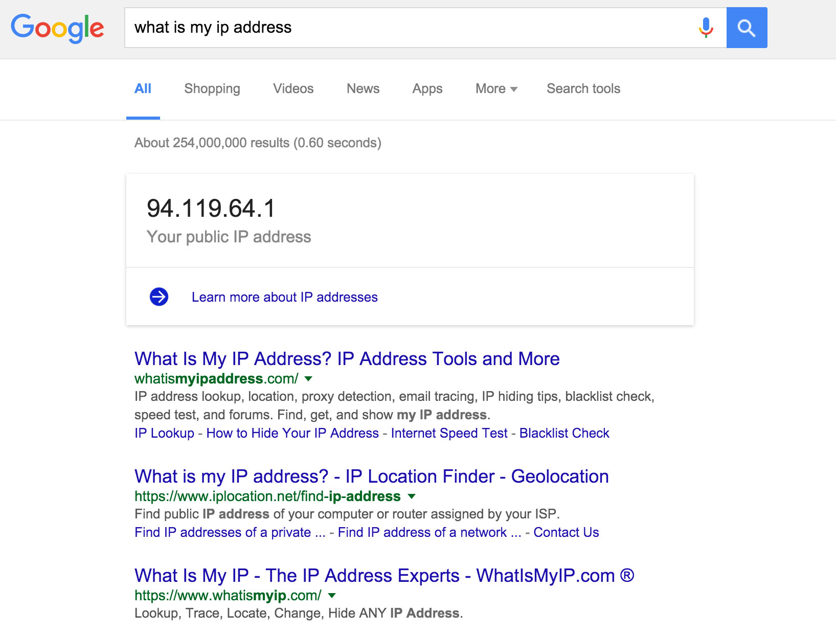 how to change address on google search