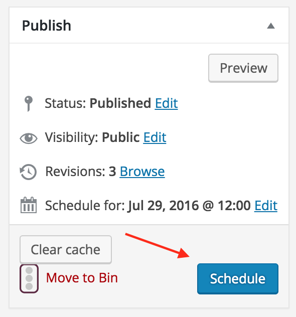 how to schedule your posts in wordpress schedule